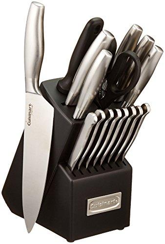 Cuisinart C77SS-17P 17-Piece Artiste Collection Cutlery Knife Block Set Stainless Steel