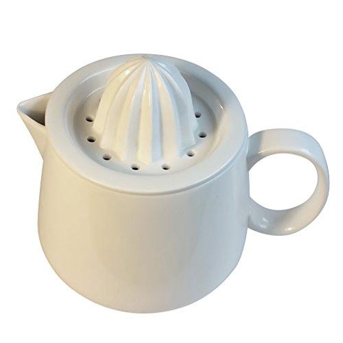 Manual citrus juicer reamer strainer with white ceramic pitcher Enjoy fresh juice