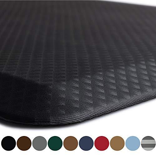 Kangaroo Original Standing Mat Kitchen Rug Anti Fatigue Comfort Flooring Phthalate Free Commercial Grade Pads Waterproof Ergonomic Floor Pad for Office Stand Up Desk 48x20 Black