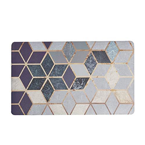 UArtlines Anti Fatigue Kitchen Floor Mat Comfort Heavy Duty Standing MatsWaterproof PVC Non Slip Washable for Indoor Outdoor 18x30Inch Geometric Patterns