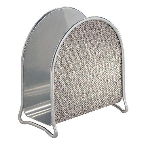 InterDesign Twillo Napkin Holder for Kitchen Countertops Table - Metallico