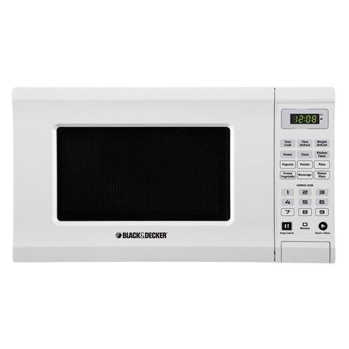 Black & Decker Em720cpi-pmw 700-watt Microwave, 0.7 Cubic Feet, White