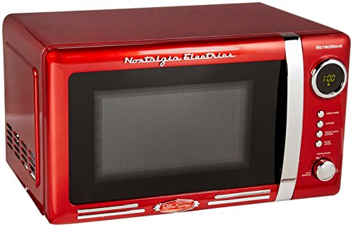 Nostalgia Rmo770red Retro Series 0.7 Cubic Foot 700-watt Microwave Oven, Red