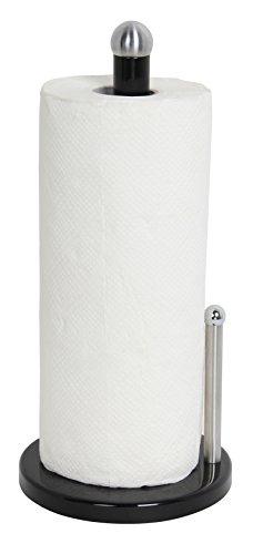 Home Basics Enamel Coated Steel Paper Towel Holder Black