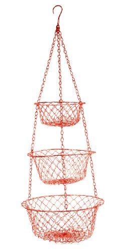 Fox Run Brands Red Hanging Basket Red
