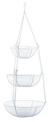 RSVP 3-Tier Hanging Baskets White