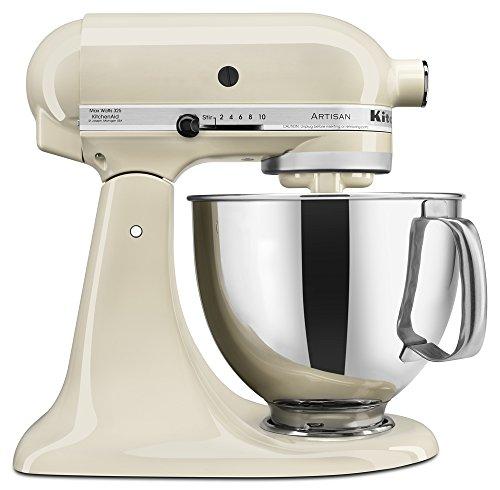 KitchenAid KSM150PSAC Artisan Series 5-Qt Stand Mixer with Pouring Shield - Almond Cream