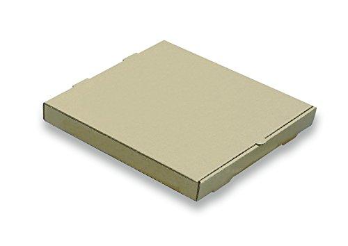 W PACKAGING WPPB12K2P Plain Pizza Box B-Flute 2 Deep 12 Kraft Pack of 50