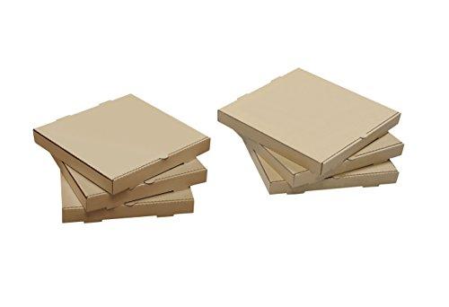 W PACKAGING WPPB20KP Plain Pizza Box B-Flute 2 Deep 20 Kraft Pack of 25