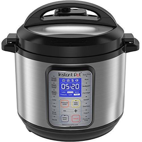 Instant Pot DUO Plus 60 6 Qt  9-in-1 Multi- Use Programmable Pressure Cooker Slow Cooker Rice Cooker Yogurt Maker Egg Cooker Sauté Steamer Warmer and Sterilizer