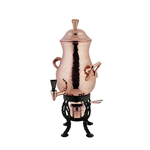 Coffee Urn 50 Cup Hammered Copper - 11Dia x 23 12H