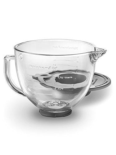 KitchenAid K5GB 5-Qt Tilt-Head Glass Bowl with Measurement Markings Lid