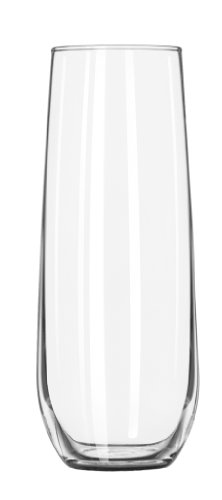Libbey Stemless Flute Glasses 12 Piece Set