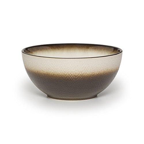 Pfaltzgraff Eclipse Stoneware Embossed Vegetable Bowl with Metallic Finish 9 Bronze