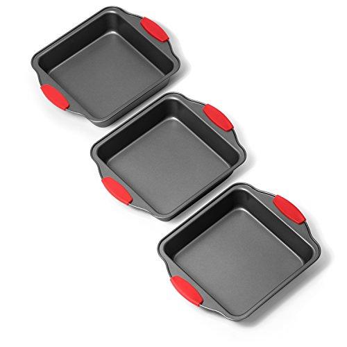 Elite Bakeware 3 Piece Square Baking Pan Set - NonStick Bakeware - Baking Pans Set