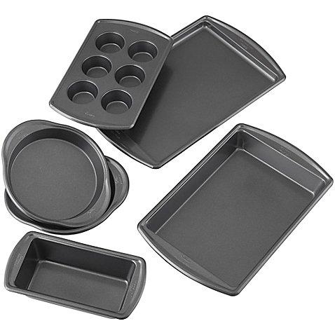 Wilton Advance - Select Nonstick 6-Piece Bakeware Set in Gunmetal 6-Piece Premium Nonstick