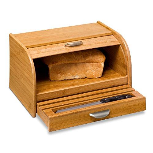 Honey-Can-Do KCH-01081 Bamboo Bread Box Bamboo