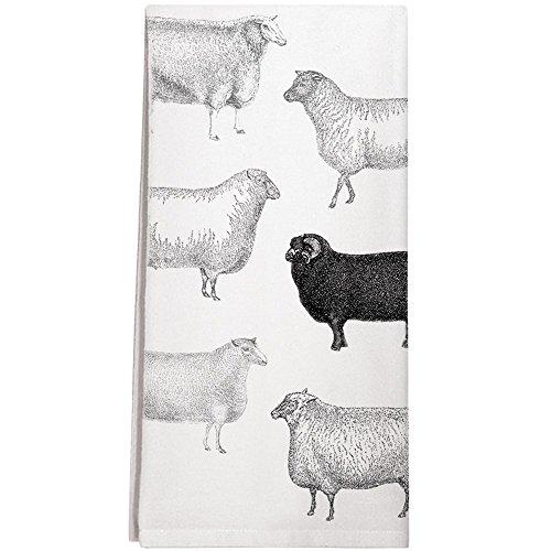 Montgomery Street Black Sheep Cotton Flour Sack Dish Towel