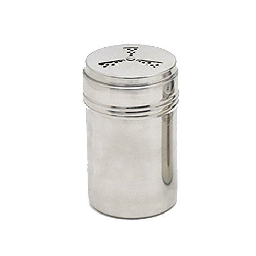 Verdental Adjustable Stainless Steel Dredge Salt Pepper Shaker Seasoning Cans with Trefoil Rotating Cover Large