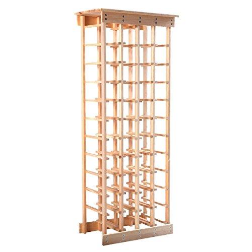 Giantex Wood Wine Rack Stackable Storage Storage Display Shelves 44-Bottle