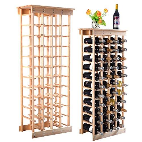 New-44-Bottle-Wood-Wine-Rack-Storage-Display-Shelves-Kitchen-Decor-Natural