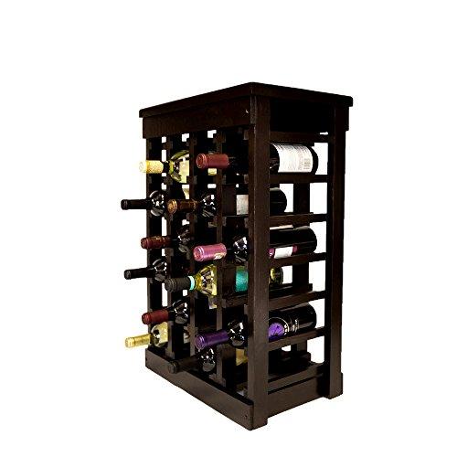 Personalized Wood Wine Rack Rustic Solid Large Dark Wood 24 Bottle Classic Wooden Wine Rack Vintage Floor Decorative Wine Rack E-Book