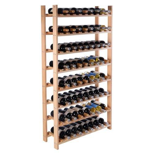 Wood Wine Holder - 120 Bottle Wood Wine Rack 8 Tier Storage Display Shelves Kitchen Natural Wine Bottle Holder