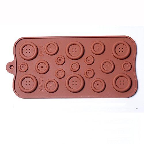 SK Silicone Button Chocolate Mold Ice Cake Chocolate Sugar Craft Fondant Decor Mold Cake Decorating Tools