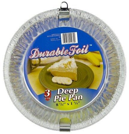 Durable Foil D21030 8 Aluminum Deep Pie Pans 3 Count