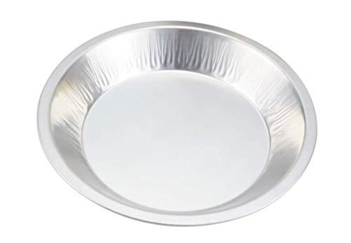 KitchenDance 9-12 Rim to Rim Disposable Heavyweight Aluminum Foil Pie Pans 1070 25