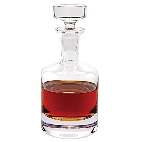 Denizli Spirits Cobra Old-Fashioned Round Whiskey Bottle Handmade Crystal Decanter 32 Oz - Lead Free