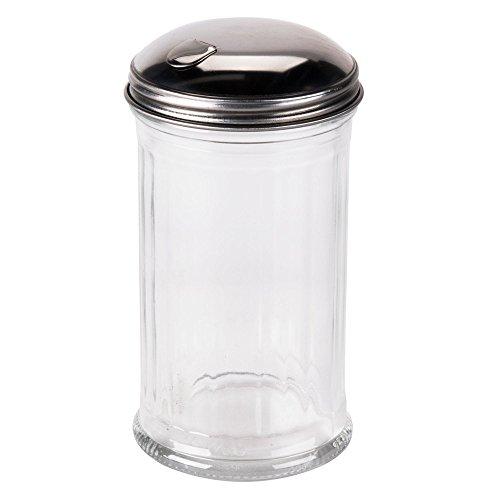 Tzipcos Flip Cap Glass Sugar Dispenser 12 Ounce
