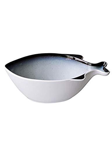 Creative Fish Soup Bowl Ceramics Salad Bowl Tableware Personality Nordic Simple Sky Blue Vegetable Bowl
