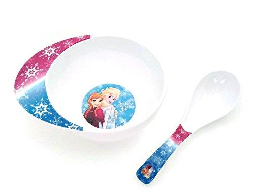 Disney Princess Melamine Soup Bowl with Soup Spoon for girls Frozen