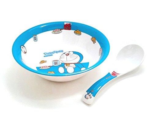 Doraemon Take a break Melamine Soup Bowl with Soup Spoon