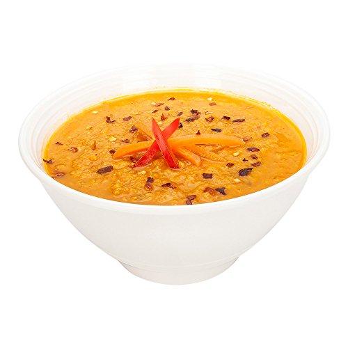 Melamine Bowl Melamine Incline Bowl - Small - White - 6 Inch 16 Ounce - Great For Soups Melamine Soup Bowl - 10ct Box - Voga - Restaurantware