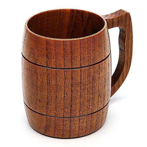 Beer Mug 16 OZ Handmade Eco-friendly Wooden Mugs With Handle For WineCoffeeTea Best Gift Cups For MenWomen