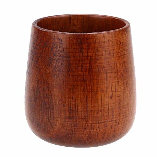 Japan Style Wood Cup Primitive Handmade Natural Spruce Wooden Cup Breakfast Beer Milk Drinkware Green Tea Cup