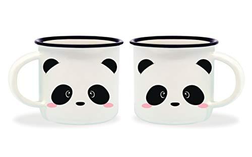 Legami MM0011 Porcelain Espresso Coffee Cups Panda