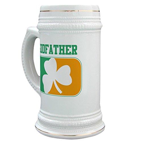 CafePress - GODFATHER Irish Stein - Beer Stein 22 oz Ceramic Beer Mug with Gold Trim