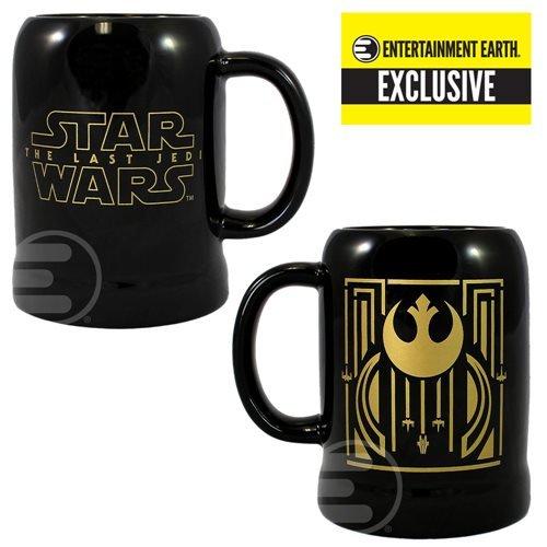 Star Wars The Last Jedi Rebel Symbol 20 oz Ceramic Stein - Entertainment Earth Exclusive