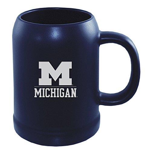 University of Michigan -22 oz Ceramic Stein Coffee Mug-Blue