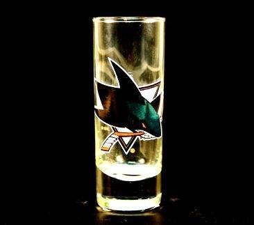 San Jose Sharks NHL Licensed Glass Cordial Logo Hype Shot Glass 2 Oz Team Logo