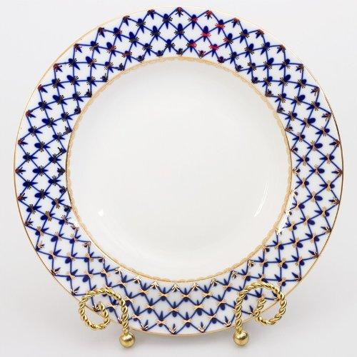 Imperial  Lomonosov Porcelain Dinner Plate Cobalt Net