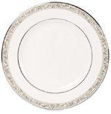 Lenox Kensington Square Platinum Banded Bone China Dinner Plate