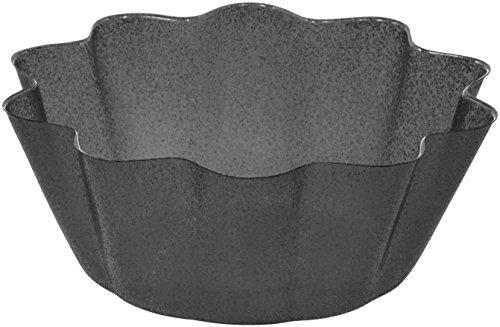 Creative Converting Fluted Plastic Serving Bowl Glitz Black Small