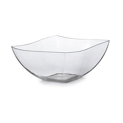 Fineline Settings 116-CL 16 Oz Clear Plastic Serving Bowls Disposable Catering Soup Salad Dessert Bowls 80-Piece Case