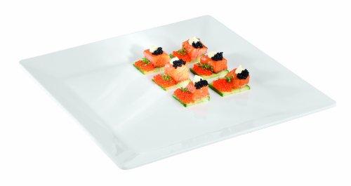 Aps Paderno World Cuisine 14-12 Square Inch White Melamine Platter