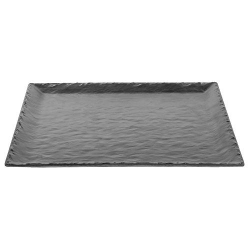 CAL-MIL Square Melamine Platter Faux Slate Collection 15L