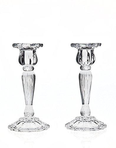 Godinger 2-pc Triumph Crystal Candlestick Set